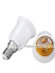 cheap -E14 to E27 Fireproof Material Lamp Holder Converter Socket Base Light Bulb Adapter Conversion