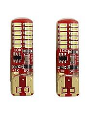 Недорогие -2pcs T10 / W5W Автомобиль Лампы 2 W SMD 3014 250 lm 24 Светодиодная лампа Подсветка для номерного знака / Лампа поворотного сигнала / Задний свет Назначение Универсальный Все года