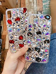 cheap -Case For Apple iPhone XS / iPhone XR / iPhone XS Max Rhinestone Back Cover Glitter Shine Hard Acrylic