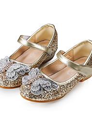 cheap -Girls' Ballerina / Flower Girl Shoes PU Flats Toddler(9m-4ys) / Little Kids(4-7ys) Sparkling Glitter Pink / Gold / Blue Spring / Fall / Wedding / Party & Evening / Wedding / Rubber