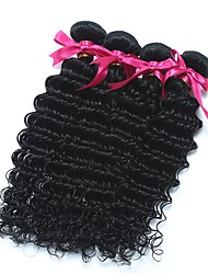 cheap -6 Bundles Malaysian Hair Deep Curly Unprocessed Human Hair Gifts Headpiece Natural Color Hair Weaves / Hair Bulk 8-28 inch Natural Color Human Hair Weaves Extender Soft New Arrival Human Hair