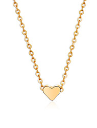 cheap -Women's Charm Necklace Heart Simple Sweet Modern Chrome Gold Silver 40+6.5 cm Necklace Jewelry 1pc For Daily Going out Work