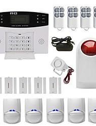 Недорогие -Беспроводная GSM-сигнализация Мобильный телефон карты Инфракрасная домашняя сигнализация Дверные и оконные системы домашней сигнализации / Хозяин сигнализации / Дверной и оконный датчик GSM Android