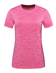 cheap -DZRZVD® Women's Hiking Tee shirt Short Sleeve Outdoor Breathable Quick Dry Fast Dry Sweat-Wicking Tee / T-shirt Top Spring Summer POLY Crew Neck Running Camping / Hiking Exercise & Fitness Grey