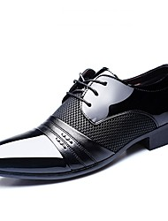 cheap -Men's Formal Shoes PU Spring & Summer Business / Classic Oxfords Breathable Black / Brown / Burgundy / Dress Shoes
