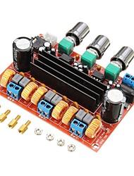 cheap -XH-M139 2.1 channel digital power amplifier board 12V-24V wide voltage TPA3116D2 2*50W