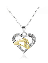 cheap -Women's Pendant Necklace Heart Hand Sweet Fashion Modern Zircon Chrome Gold Silver Rose Gold 45+5 cm Necklace Jewelry 1pc For Gift Daily Festival
