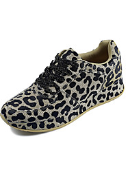 cheap -Women's Sneakers Flat Heel Round Toe Nylon Casual Walking Shoes Fall / Spring & Summer Gold / Silver / Leopard