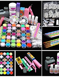 cheap -1 pcs Nail Kits Classic Best Quality Romantic Fashion Daily Festival Acrylic Kit Glitter Powder UV Gel for Finger Nail Toe Nail