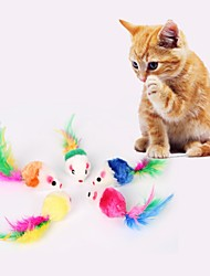 cheap -Interactive Plush Toy Feather Toy Cat Pet Toy 5pcs Pet Friendly Plush Fabric Gift