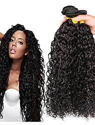 Недорогие -4 Связки Перуанские волосы Волнистые Не подвергавшиеся окрашиванию человеческие волосы Remy 200 g Косплей Костюмы Человека ткет Волосы Пучок волос 8-28 дюймовый Естественный цвет
