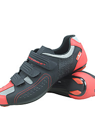 Недорогие -SIDEBIKE Взрослые Обувь для велоспорта Противозаносный Вентиляция Ультралегкий (UL) Шоссейные велосипеды Велосипедный спорт / Велоспорт Черный / красный Муж. Жен. Обувь для велоспорта