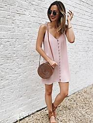 cheap -Women's Elegant A Line Sundress - Solid Colored Patchwork Red Pink Light Blue XXXL XXXXL XXXXXL