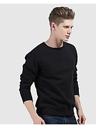 cheap -Men's Sweatshirt Outdoor Windproof Breathable Quick Dry Top Cotton Fleece N / A Casual Indoor School Black / White / Red / Grey / Dark Navy
