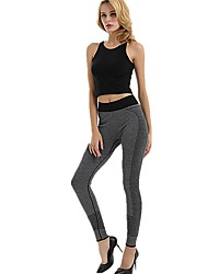 cheap -Women's High Waist Yoga Pants Leggings Quick Dry Black Grey Running Fitness Sports Activewear Micro-elastic Slim