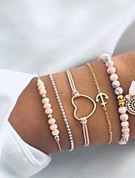 cheap -5pcs Women's Bead Bracelet Vintage Bracelet Earrings / Bracelet Stylish Romantic Casual / Sporty Sweet Elegant Hemp Rope Bracelet Jewelry Pink For Daily School Street Going out Festival