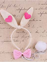 cheap -Rabbit Mascot Easter Bunny Ears Headband Kid's Girls' Cosplay Easter Festival / Holiday Fabric White / Pink / Fuchsia Carnival Costumes Patchwork