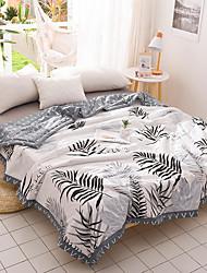 abordables -Confortable - 1 Couette Eté Coton Ecossais / à Carreaux / Géométrique / Couleur Mélangée