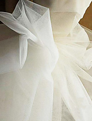 cheap -Tulle Solid Inelastic 160 cm width fabric for Bridal sold by the Meter