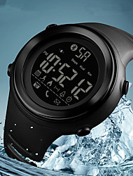 cheap -SKMEI Men's Sport Watch Digital Silicone Rubber Black / Jade 50 m Water Resistant / Waterproof Bluetooth Calendar / date / day Digital Casual Fashion - Blue Black / White Khaki