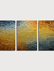 cheap -Oil Painting Hand Painted - Abstract Still Life Modern Stretched Canvas / Three Panels