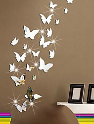 cheap -Shapes Wall Stickers Plane Wall Stickers Decorative Wall Stickers, Plastic & Metal Home Decoration Wall Decal Wall Decoration 1 set