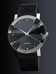 cheap -Couple's Dress Watch Quartz Leather Black Casual Watch Analog Casual Fashion fancy - Black One Year Battery Life / Stainless Steel