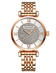 cheap -Women's Dress Watch Gold Watch Quartz Stainless Steel Silver / Gold / Rose Gold 30 m Shock Resistant Casual Watch Analog Luxury Fashion - Gold / Silver Rose Gold Champagne One Year Battery Life