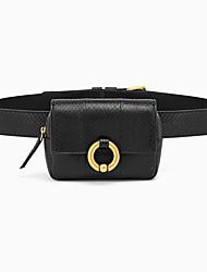 cheap -Women's Bags PU Leather Snakeskin Fanny Pack Zipper Snake Print 2021 Daily Outdoor Black Green