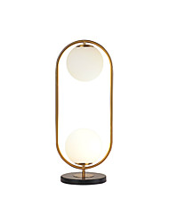 cheap -Contemporary Nordic Simple Modern Creative Metal Glass Ball Desk Lamp Table Lamp Warm Study Room Living Room Bedroom Gold