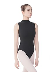 cheap -Ballet Leotards Women's Training / Performance Cotton / Spandex / Vicose Split Joint Sleeveless Leotard / Onesie