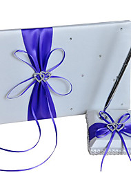 cheap -Wedding Guest Book / Pen Set 53 Heart / Bowknot / Lace-up Nonwovens