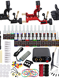 cheap -DRAGONHAWK Tattoo Machine Starter Kit - 2 pcs Tattoo Machines with 1 x 30 ml / 28 x 5 ml tattoo inks, Professional Level, All in One, Easy to Install Alloy Mini power supply Case Not Included
