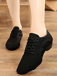cheap -Women's Dance Shoes Canvas Jazz Shoes Oxford Thick Heel Customizable Black / Practice