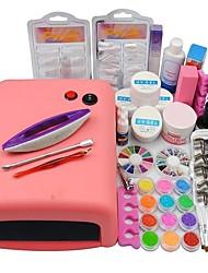cheap -Acrylic Kit Glitter Powder UV Gel For Finger Nail Toe Nail Classic / Best Quality Romantic Series nail art Manicure Pedicure Romantic / Fashion Daily / Festival