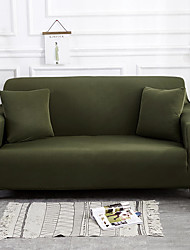 cheap -Sofa Cover High Stretch Dark Green Combinatorial Soft Elastic Polyester Slipcovers