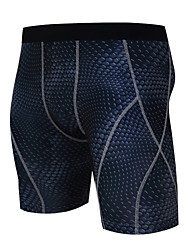 cheap -Men's Compression Shorts Compression Base layer Underwear Shorts Bottoms Plus Size Lightweight Breathable Quick Dry Soft Sweat-wicking Black+Sliver Royal Blue Blue / Black Lycra Road Bike Mountain