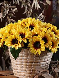 Недорогие -Искусственные Цветы 12 Филиал Классический европейский Простой стиль Подсолнухи Букеты на стол