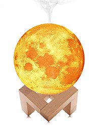 Недорогие -Youoklight 3D Луна лампы прохладный туман увлажнитель светодиодный ночник с регулируемой яркостью постоянного тока с питанием современный 1 шт.