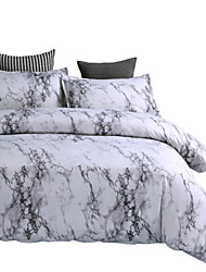 cheap -Duvet Cover Sets Luxury / Stripes / Ripples / Contemporary Polyster Printed 3 PieceBedding Sets