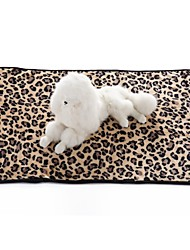 cheap -Dogs Cats Mattress Pad Bed Towels Bed Blankets Blankets Terylene Warm Foldable Soft Leopard Character Zebra White Black Leopard
