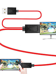 cheap -MHL Cable Micro USB 2.0 to HDMI 1.4 Adapter Cable Male - Male 1.8m(6Ft)