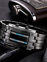 Недорогие -Муж. электронные часы Цифровой Черный / Серебристый металл 30 m Защита от влаги Календарь Новый дизайн Цифровой На каждый день Мода - Черный Серебряный