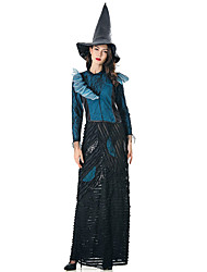 cheap -Witch Skirt Cosplay Costume Hat Adults' Women's Hat Halloween Halloween Carnival Masquerade Festival / Holiday Polyster Black Carnival Costumes Patchwork