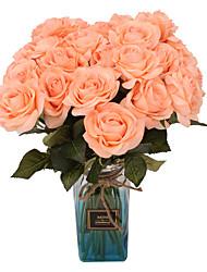 Недорогие -Искусственные Цветы 5 Филиал Классический Сценический реквизит европейский Розы Вечные цветы Букеты на стол