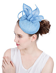 cheap -Flax Kentucky Derby Hat / Fascinators / Flowers with Tiered 1 Piece Wedding / Party / Evening Headpiece