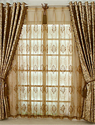 cheap -European Blackout One Panel Curtain Living Room   Curtains