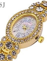 Недорогие -ASJ Жен. Часы-браслет золотые часы Японский Японский кварц Серебристый металл / Золотистый Повседневные часы Аналоговый Винтаж - Серебряный Золотистый Один год Срок службы батареи