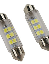cheap -OTOLAMPARA 2pcs 39mm Car Light Bulbs 3 W SMD 5630 240 lm 6 LED License Plate Lights For 2018 / 2019
