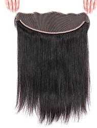 cheap -1 Bundle Brazilian Hair Straight Remy Human Hair Wig Accessories Hair Weft with Closure 8-20 inch Natural Color Human Hair Weaves Lace Easy dressing New Arrival Human Hair Extensions